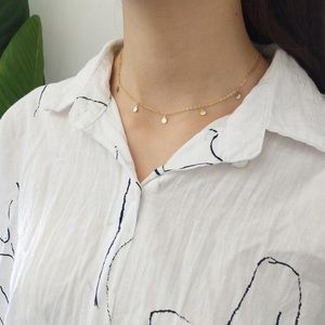Jewelry - Simple Choker Necklace Small Circles
